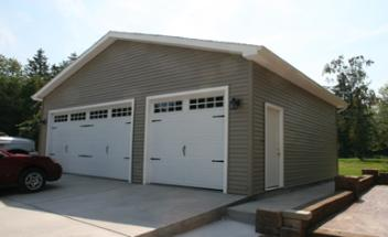 custom built garage